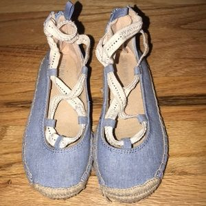 Toddler lace up denim sandals